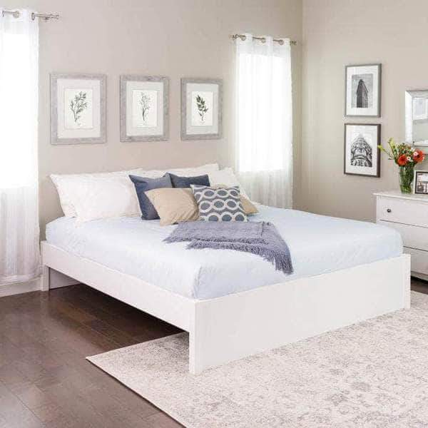 Prepac Platform Beds King / White Select 4-Post Platform Bed - Multiple Options Available