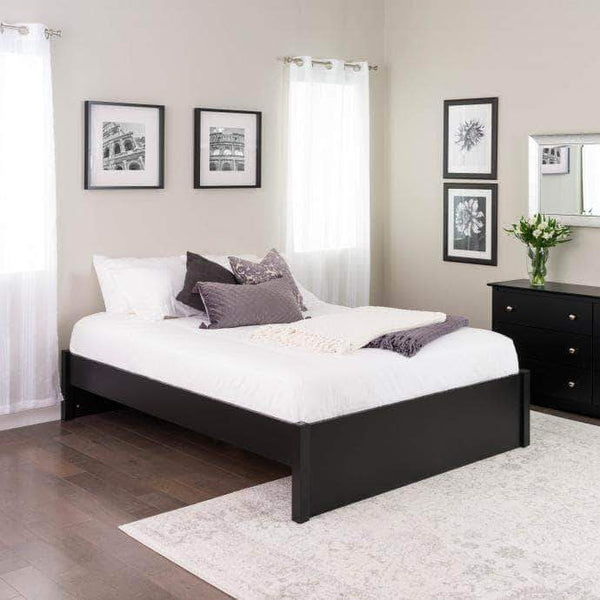 Prepac Platform Beds Queen / Black Select 4-Post Platform Bed - Multiple Options Available