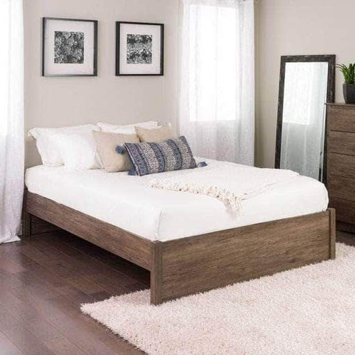 Prepac Platform Beds Queen / Drifted Grey Select 4-Post Platform Bed - Multiple Options Available