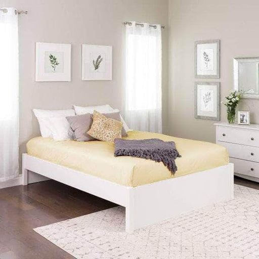 Prepac Platform Beds Queen / White Select 4-Post Platform Bed - Multiple Options Available