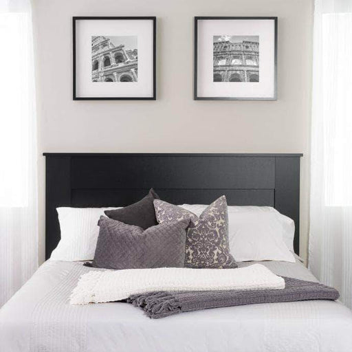 Prepac Queen / Black Flat Panel Headboard - Multiple Options Available