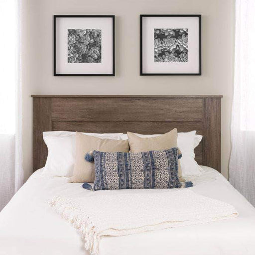 Prepac Queen / Drifted Grey Flat Panel Headboard - Multiple Options Available