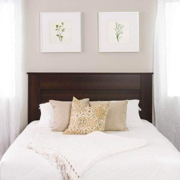 Prepac Queen / Espresso Flat Panel Headboard - Multiple Options Available