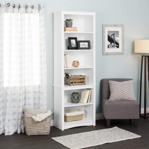 Prepac Tall Bookcase, White