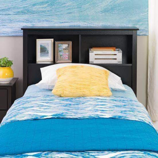 Prepac Twin / Black Bookcase Headboard - Multiple Options Available