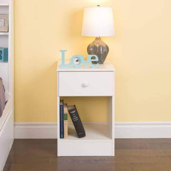 Prepac White Astrid Tall 1-Drawer Nightstand - Multiple Options Available
