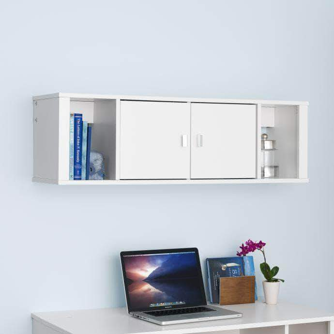 Prepac White Designer Floating Hutch - Multiple Options Available