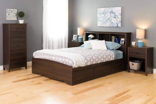 Prepac Yaletown Bedroom Collection Espresso Yaletown 1-Drawer Tall Nightstand - Multiple Options Available