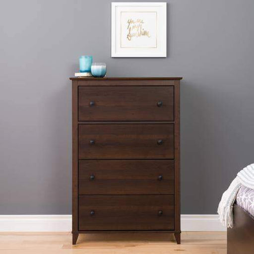Prepac Yaletown Bedroom Collection Espresso Yaletown 4-Drawer Chest - Multiple Options Available
