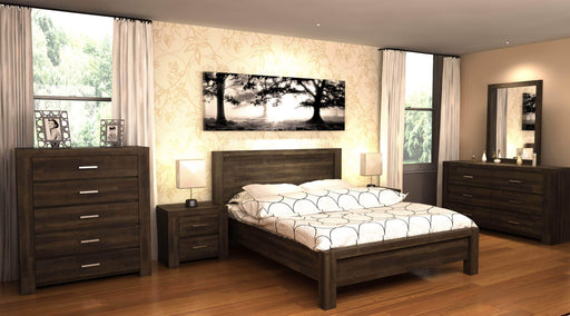Primo International Bed Queen Ericson Acacia Solid Wood Platform Bed