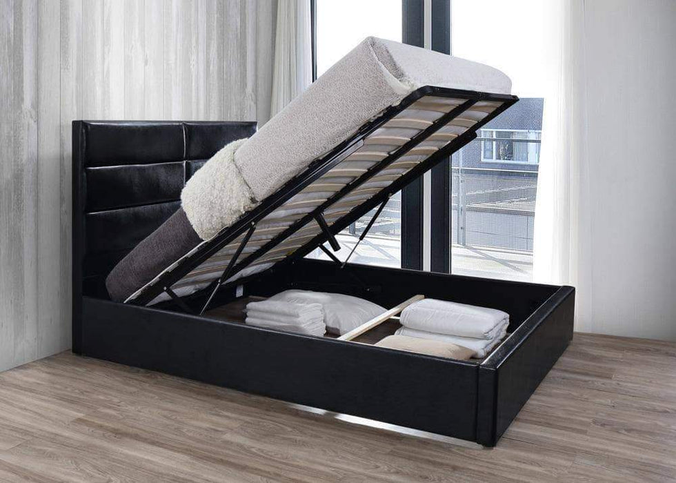 Primo International Bed Queen Rosalie Complete Platform Bed with Storage Base
