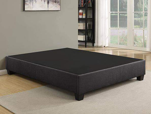 Primo International Bed Twin Grey Upholstered EZ Base Foundation Platform Bed