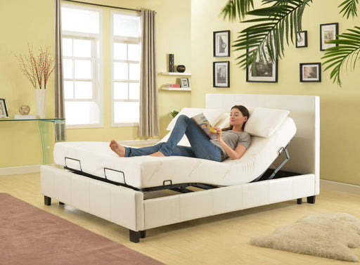 Primo International Bedroom Contemporary Bonded Leather Queen Platform Bed