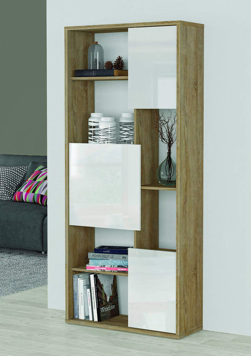 Primo International Bookcase Trend Bookcase with High Gloss Doors