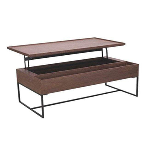 Primo International Coffee Table Contemporary Lift Top Coffee Table in Teak