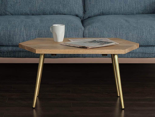 Primo International Coffee Table Rustic Contemporary Coffee Table in Natural