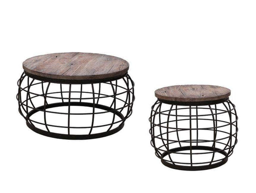 Primo International Coffee Tables & Sets 2 Piece Contemporary Coffee Table and End Table Set in Antique Grey