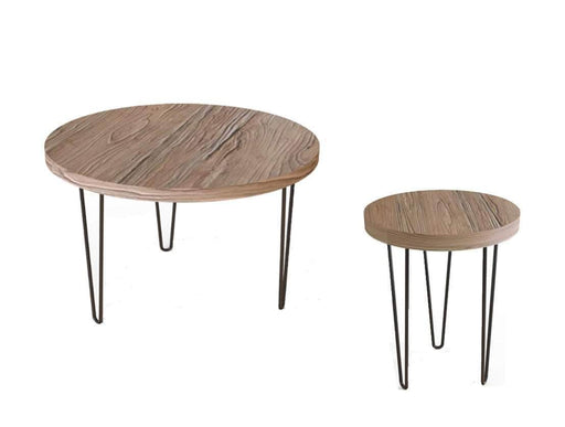 Primo International Coffee Tables & Sets 3 Piece Contemporary Coffee Table and End Tables Set in Antique Oak