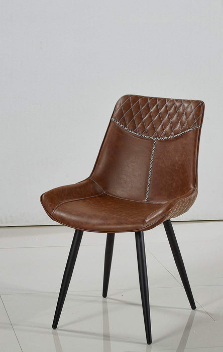Primo International Dining Chair Cognac Contemporary Upholstered Dining Chair Set - Available in 2 Colours