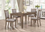 Primo International Dining Set 5 Piece Contemporary Dining Set in Dark Walnut