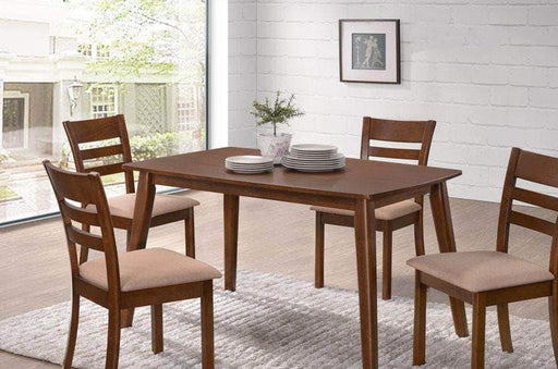 Primo International Dining Set 5 Piece Contemporary Dining Set in Walnut