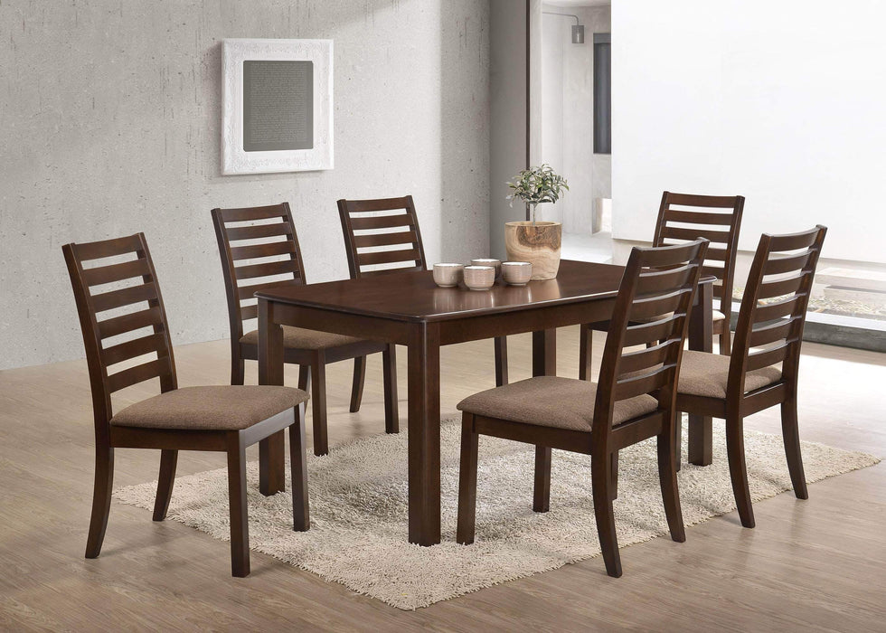 Primo International Dining Set 7 Piece Contemporary Dining Set in Coffee