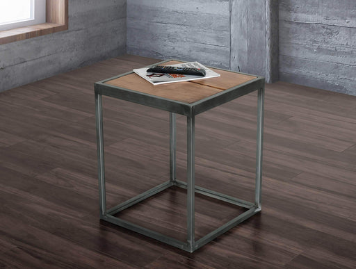 Primo International End Table Rustic Contemporary End Table in Acacia
