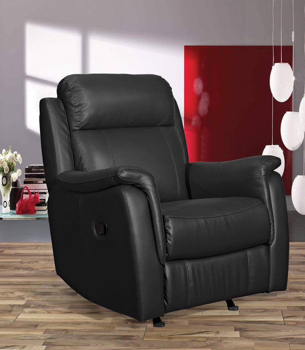 Primo International Leather Recliner Black Bosworth Glider Swivel Recliner in Leather Match - Available in 2 Colours