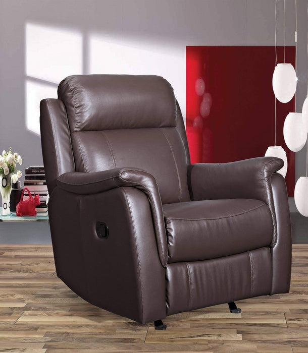 Primo International Leather Recliner Brown Bosworth Glider Swivel Recliner in Leather Match - Available in 2 Colours