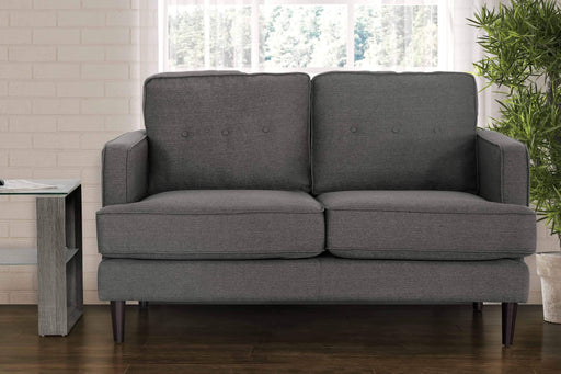 Primo International Loveseat Cement Aurora Contemporary Loveseat in Grey Tweed Fabric