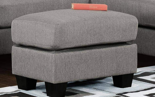 Primo International Ottoman Ottoman Alina Contemporary Grey Tweed Ottoman