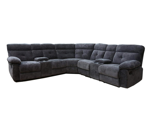 Primo International Sectional Cliff Contemporary Sectional in Charcoal