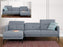 Primo International Sectional Sofa Left Facing Chaise Minna Sectional Sofa in Grey Fabric