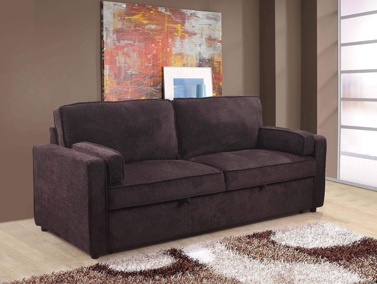 - Order Online The Vitto Sleeper Loveseat In Myst Chocolate By Primo