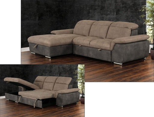 Primo International Sleeper Sectional Left Facing Chaise Savina Sleeper Sectional with Storage Chaise