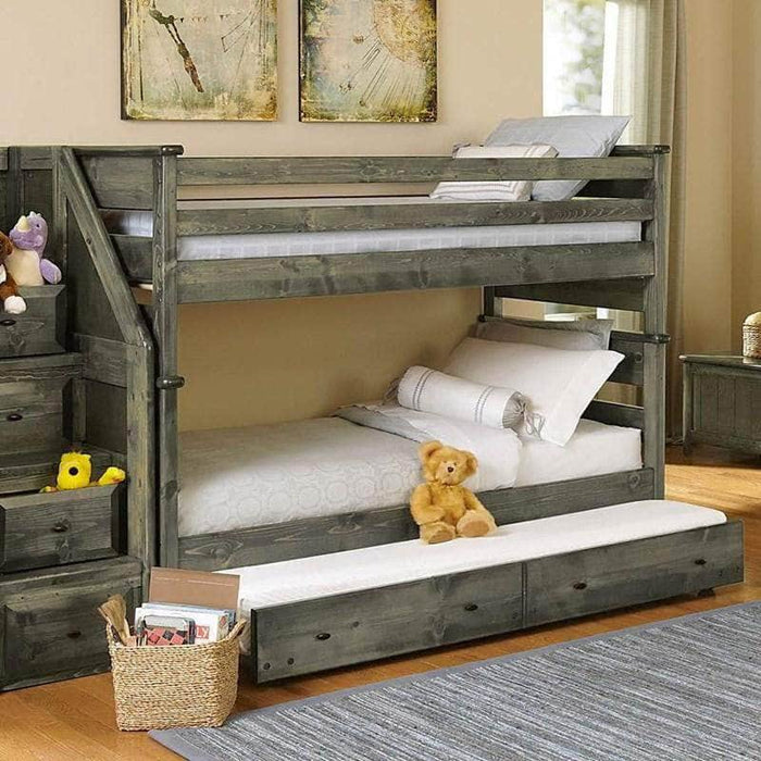 Rustic Classics Bunk Bed Laguna Twin over Twin Bunk Bed in Rustic Grey
