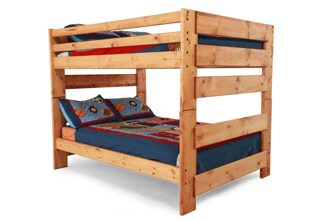 Rustic Classics Pine Full Over Full Bunk Bed In Amber Wash