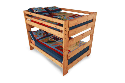 Rustic Classics Bunk Bed Pine Full over Full Bunk Bed in Amber Wash