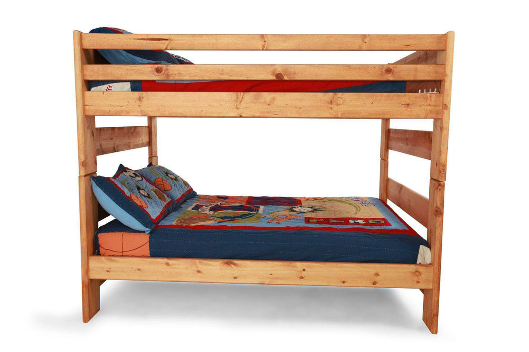Rustic Classics Pine Full over Full Bunk Bed in Amber Wash ...