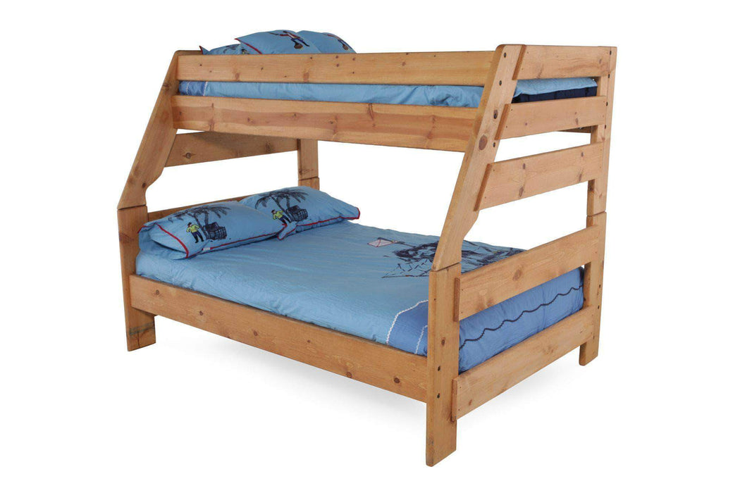 Rustic Classics Bunk Bed Pine Twin Over Full Bunk Bed in Amber Wash