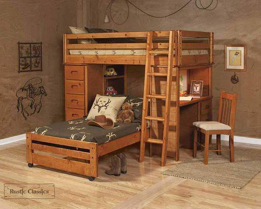 Rustic Classics Bunk Bed Pine Twin Over Twin Loft Bed In Amber Wash