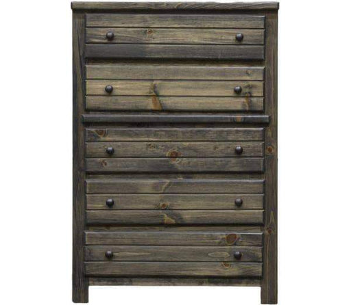 Rustic Classics Drawer Chest Pine 5 Drawer Chest in Rustic Grey