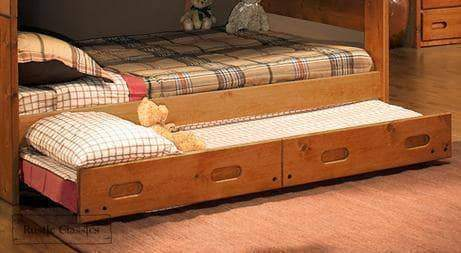 Rustic Classics Pine Twin Trundle in Amber Wash