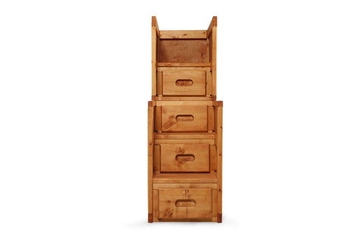 Rustic Classics Stairway Chest Pine Stairway Chest in Amber Wash