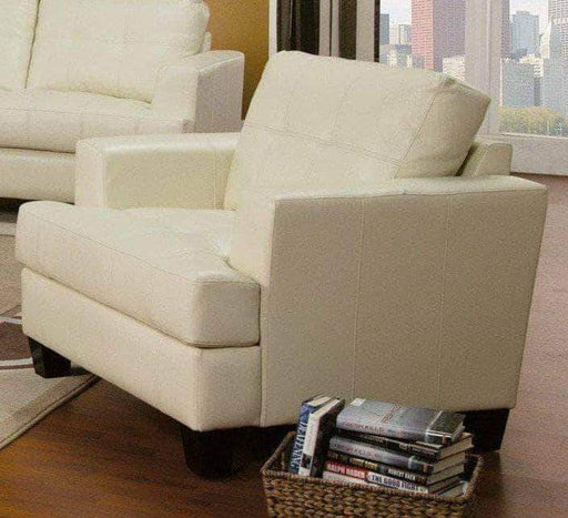 True Contemporary chair ottoman set Cream Toronto 2 Chairs with 2 Ottoman Set