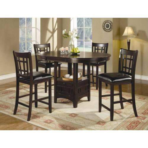 True Contemporary Dining Sets Lavon 5 Piece Counter Table and Chair Set