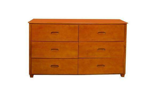 True Contemporary Dresser Fraser Oak Six Drawer Dresser