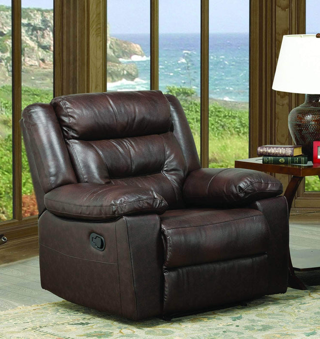 True Contemporary Leather Recliner Swass Brown leather Recliner Chair