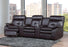 True Contemporary Leather Recliner Yeti Black Leather Recliner Theater Couch