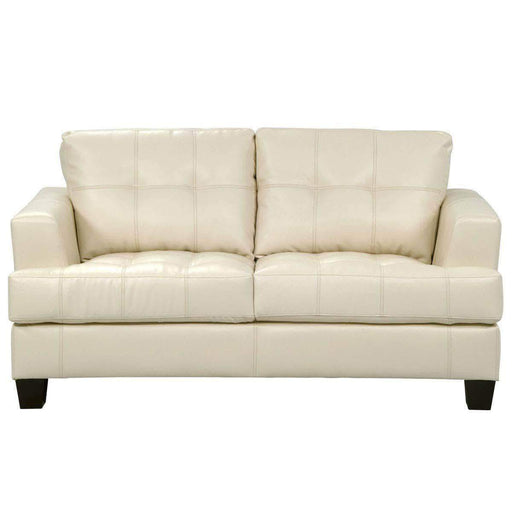 True Contemporary Cream Toronto Loveseat
